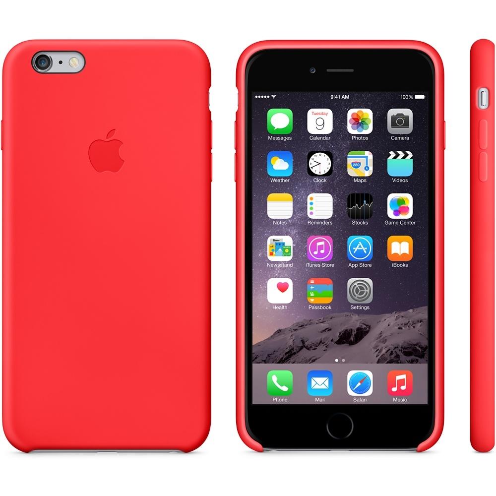 Capac de protectie spate Apple Silicone Case pentru iPhone 6 Plus 6s Plus, MGRG2ZM A Red 1