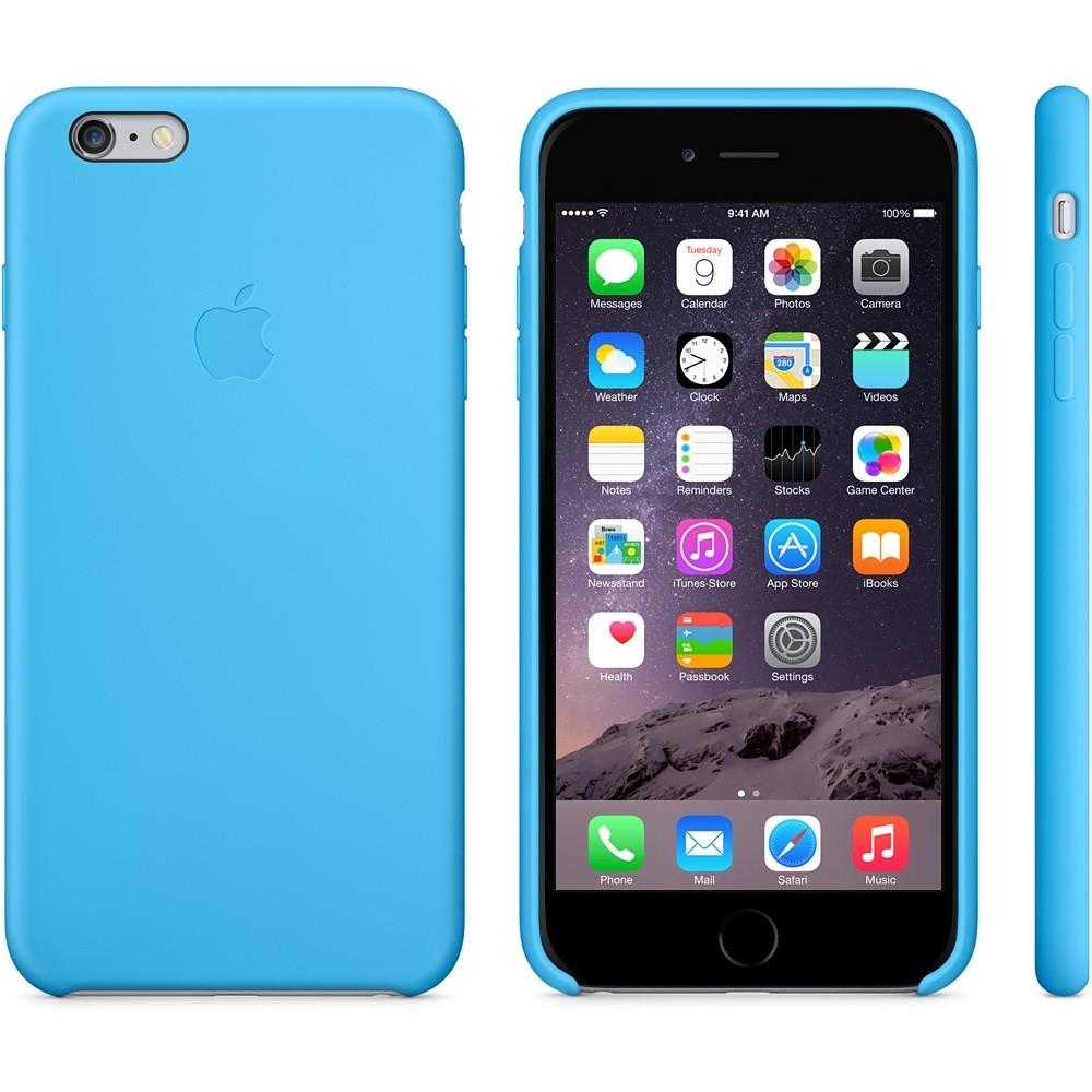 Capac de protectie spate Apple Silicone Case pentru iPhone 6 Plus 6s Plus, MGRH2ZM A 2
