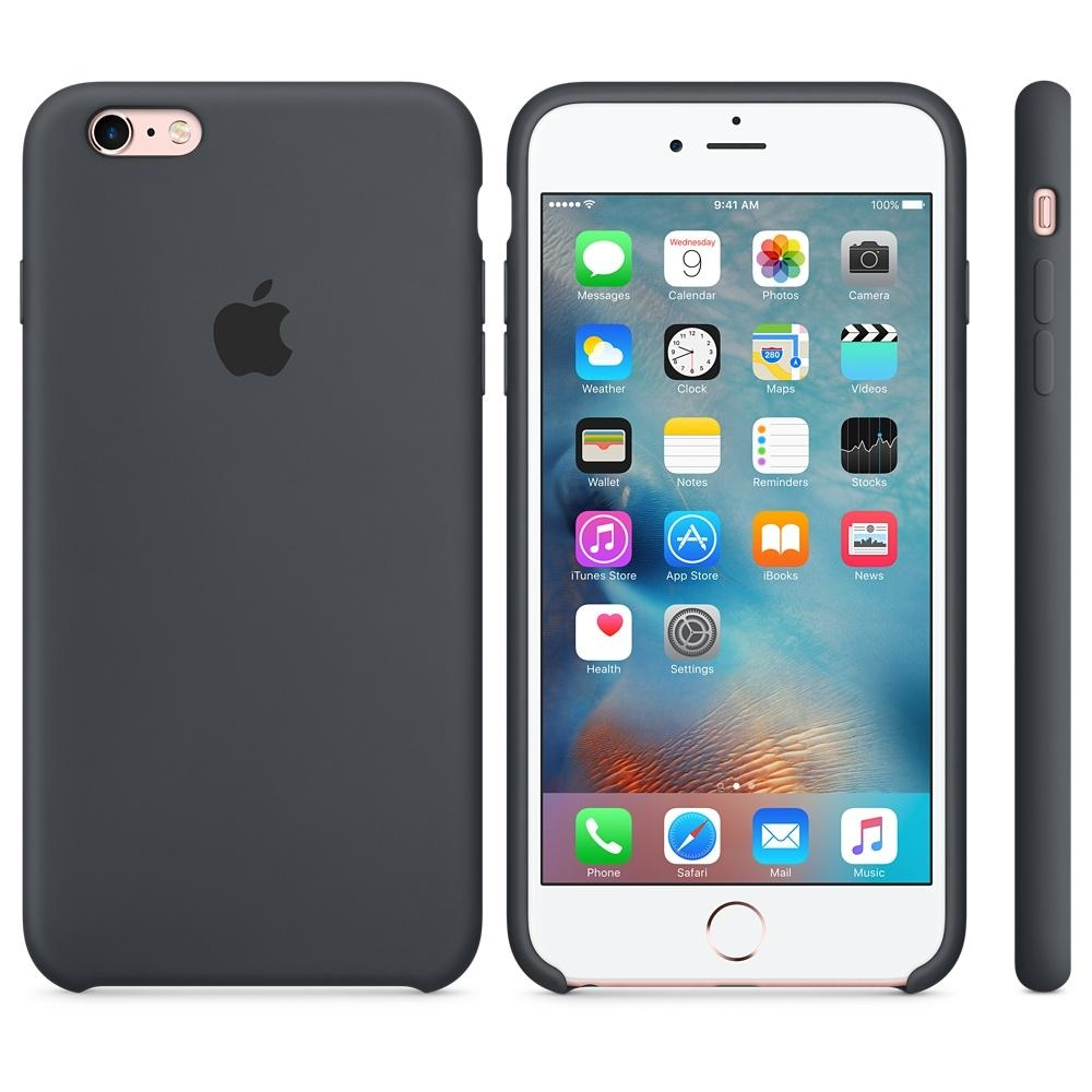 Capac protectie spate Apple Silicone Case Charcoal Gray pentru iPhone 6s Plus, MKXJ2ZM A