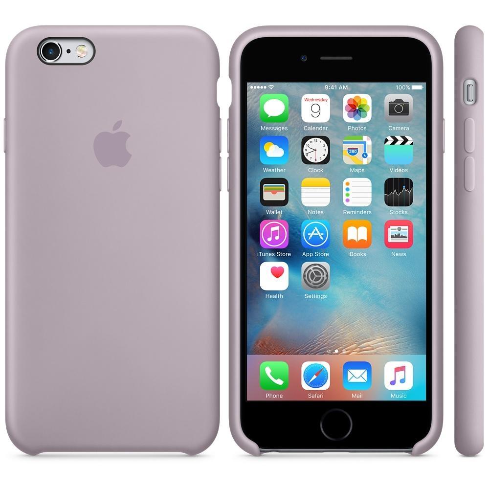 Capac protectie spate Apple Silicone Case Lavender pentru iPhone 6s, MLCV2ZM A