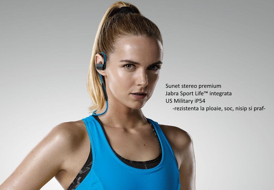 Casti Bluetooth Stereo Jabra Sport Pace Wireless, Albastru.