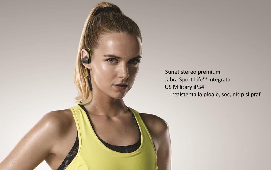 Casti Bluetooth Stereo Jabra Sport Pace Wireless, Galben .