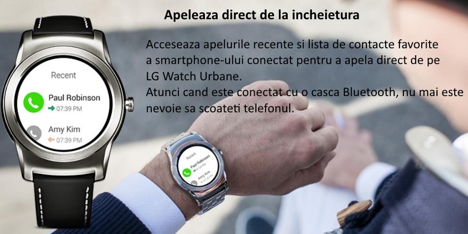 Ceas SmartWatch LG Watch Urbane, W150 Silver.