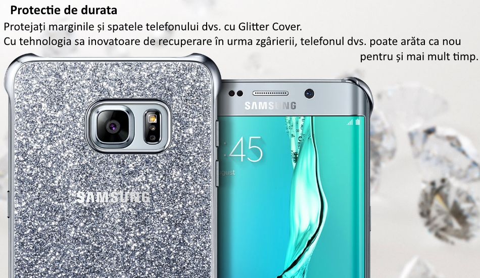 Capac protectie Glitter Cover pentru Samsung Galaxy S6 Edge+ (G928) 1