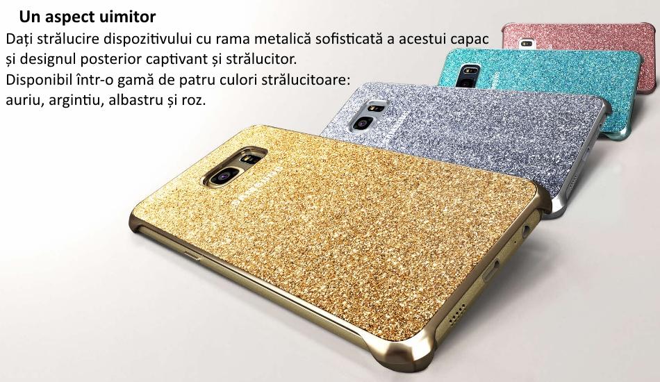Capac protectie Glitter Cover pentru Samsung Galaxy S6 Edge+ (G928)