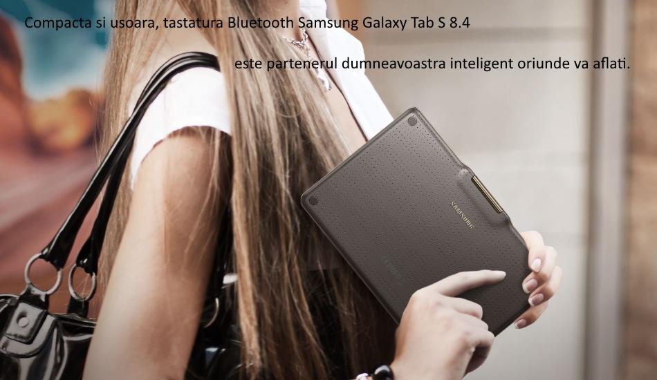 Husa Book cu tastatura bluetooth integrata pentru Samsung Galaxy Tab S 8.4 1