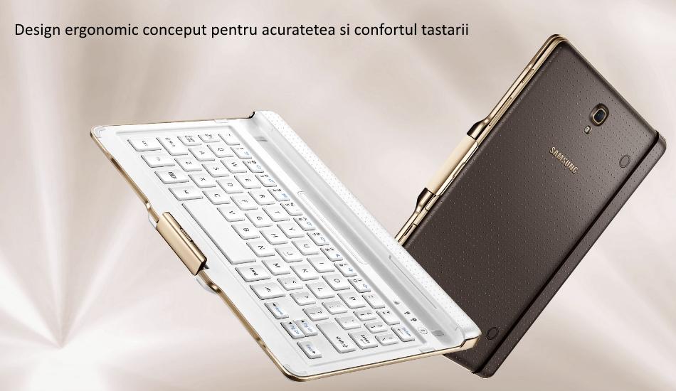 Husa Book cu tastatura bluetooth integrata pentru Samsung Galaxy Tab S 8.4