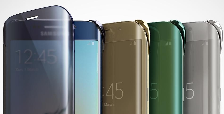 Husa Clear View Cover pentru Samsung Galaxy S6 Edge (G925)