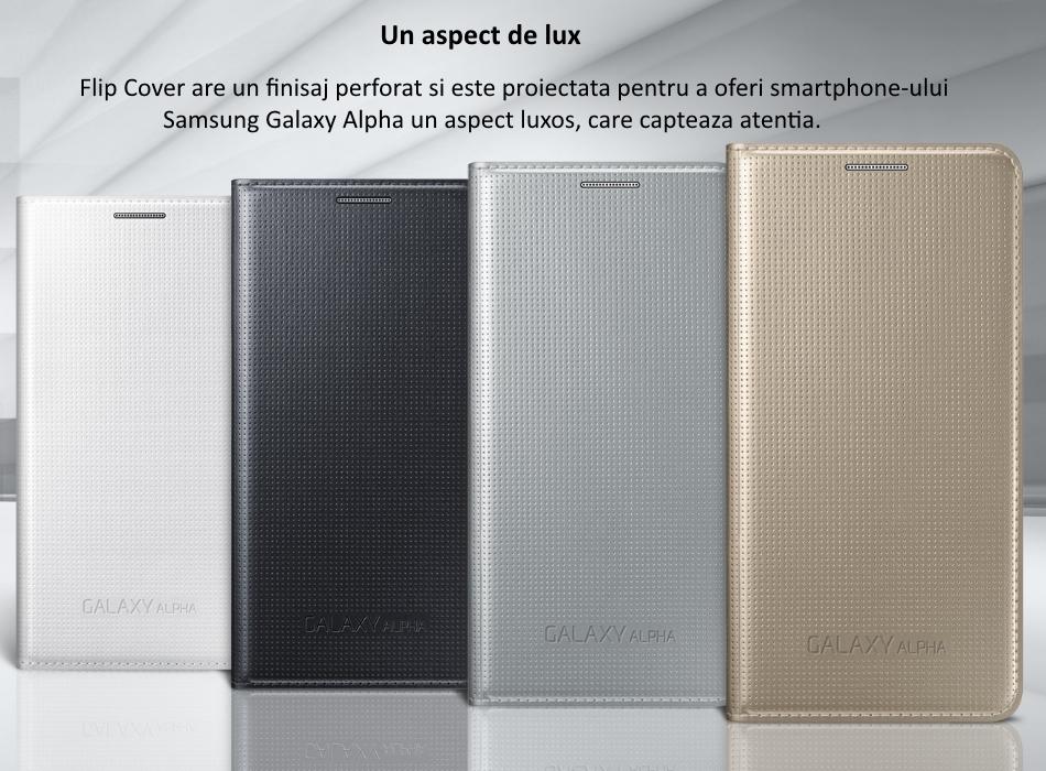 Husa Flip Cover pentru Samsung Galaxy Alpha (G850).