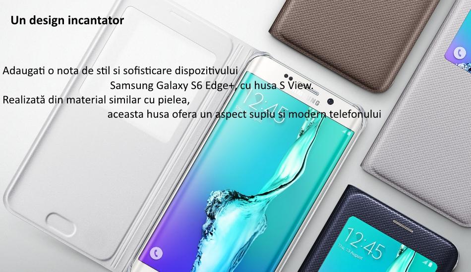 Husa Flip S View Cover pentru Samsung Galaxy S6 Edge+ (G928)