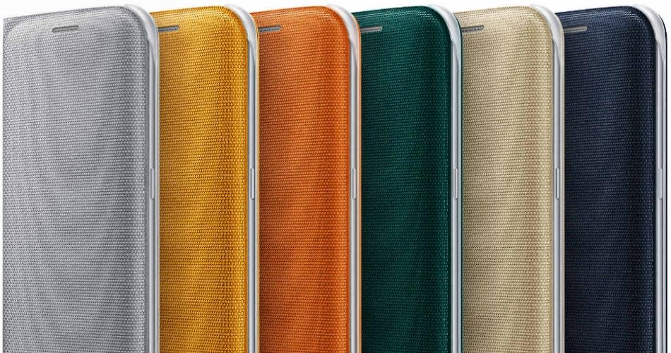 Husa Flip Wallet Cover Fabric pentru Samsung Galaxy S6 Edge (G925)