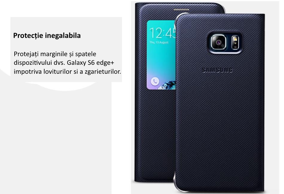Husa Flip Wallet Cover PU pentru Samsung Galaxy S6 Edge+ (G928) 4