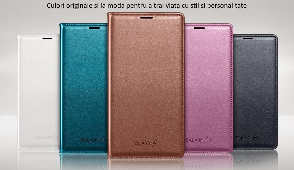 Husa Flip Wallet Cover pentru Samsung Galaxy S5 (G900) 1