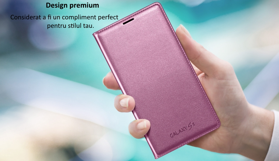 Husa Flip Wallet Cover pentru Samsung Galaxy S5 (G900) 2