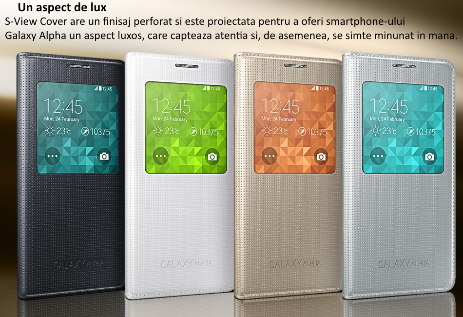 Husa S-View Cover pentru Samsung Galaxy Alpha (G850)