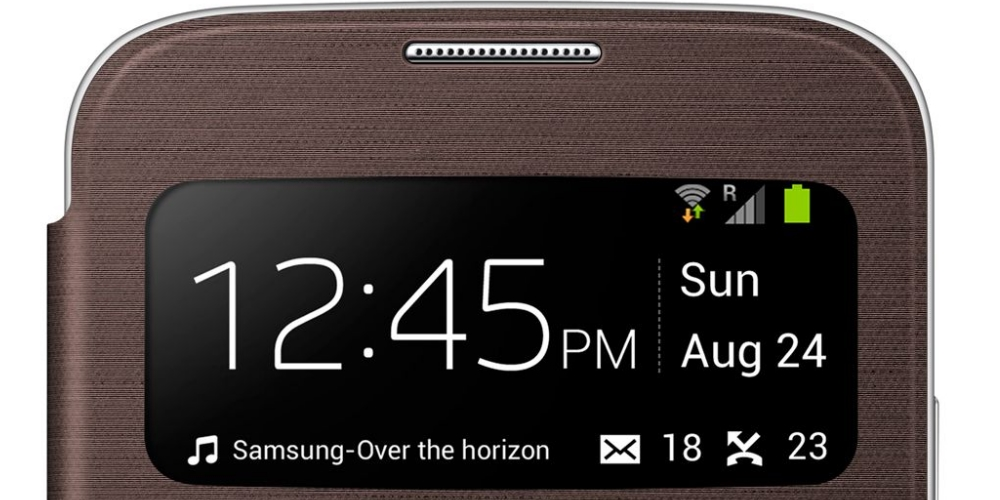 Husa S-View Flip Cover Brown pentru Samsung Galaxy S4 (i9500, i9505), EF-CI950BAEGWW