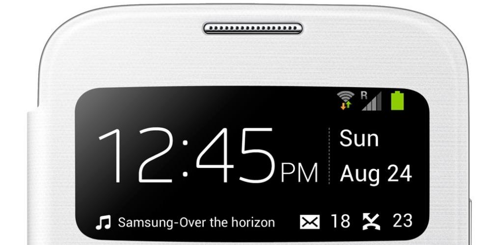 Husa S-View Flip Cover White pentru Samsung Galaxy S4 (i9500, i9505), EF-CI950BWEGWW