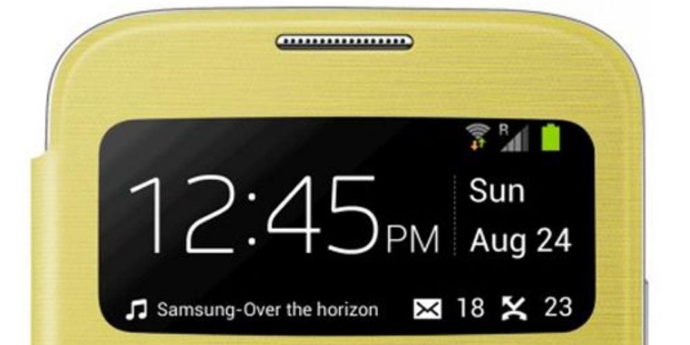 Husa S-View Flip Cover Yellow pentru Samsung Galaxy S4 (i9500, i9505), EF-CI950BYEGWW 5