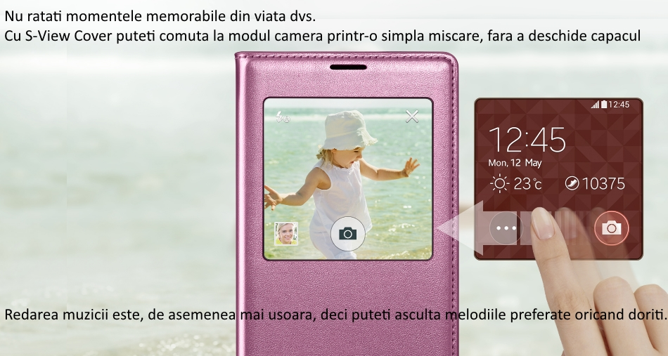 Husa S-View Flip Cover pentru Samsung Galaxy S5 (G900) 2