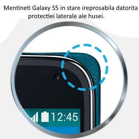Husa S-View Flip Cover pentru Samsung Galaxy S5 (G900) 4