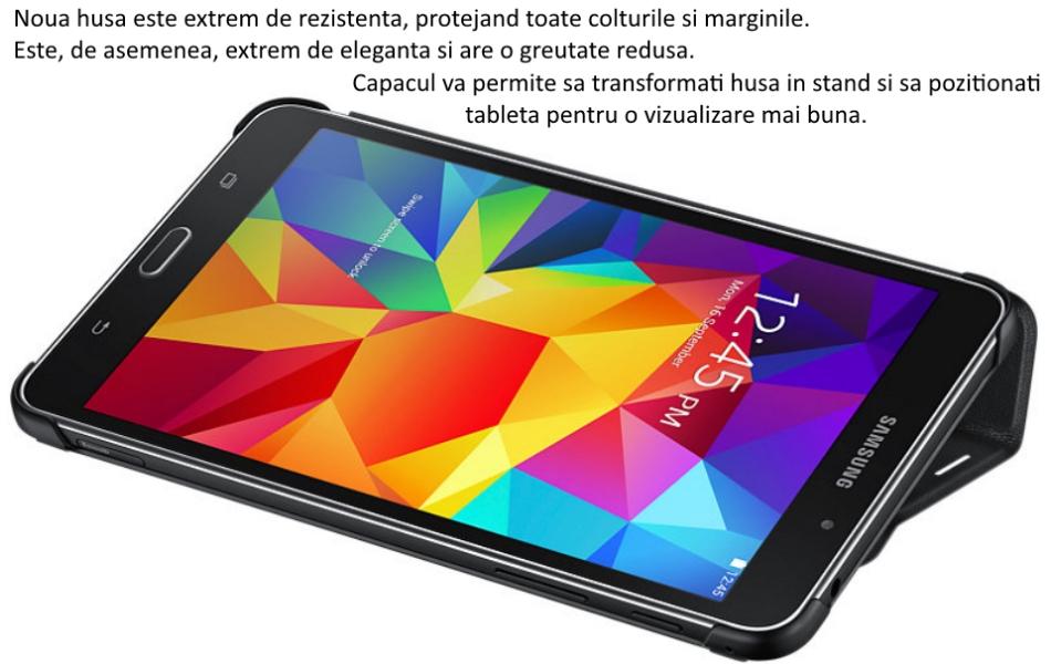 Husa Stand Book Cover pentru Samsung Galaxy Tab 4 7.0 inch