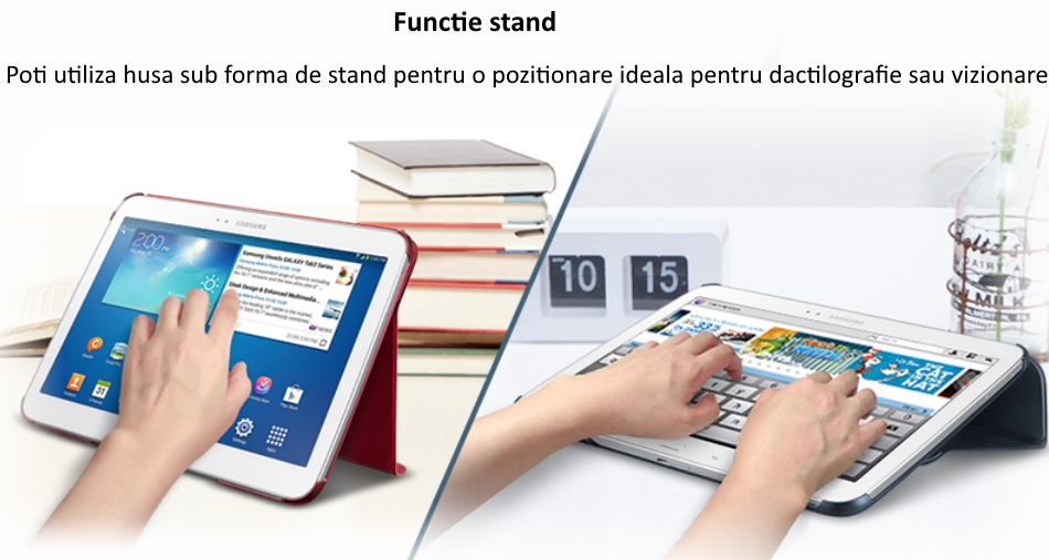Husa Stand Book Cover pentru Samsung Galaxy Tab Pro 10.1 inch 1