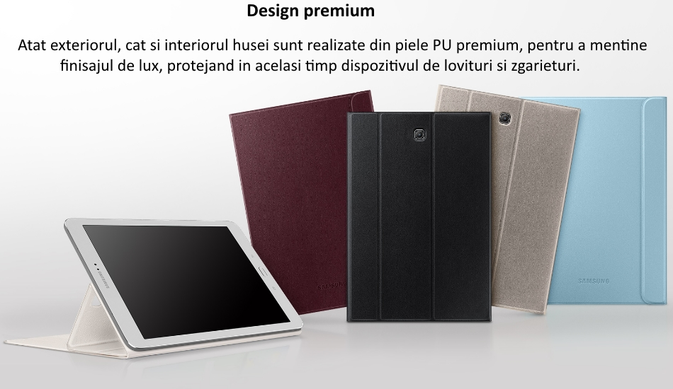 Husa Stand Book Cover pentru Samsung Galaxy Tab S2 8.0 inch 1