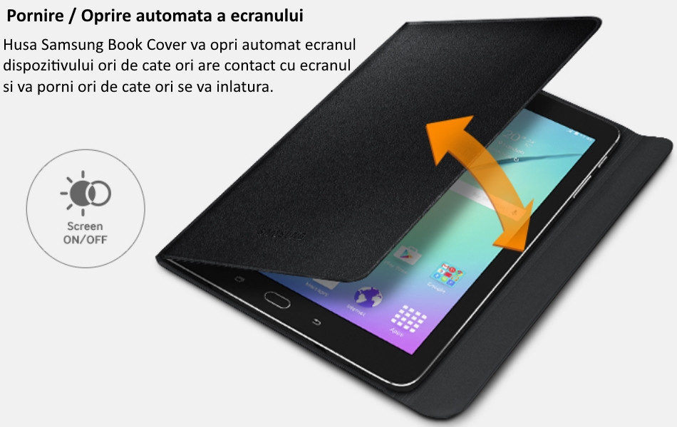 Husa Stand Book Cover pentru Samsung Galaxy Tab S2 8.0 inch 2