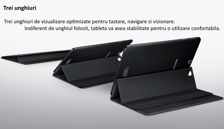 Husa Stand Book Cover pentru Samsung Galaxy Tab S2 8.0 inch