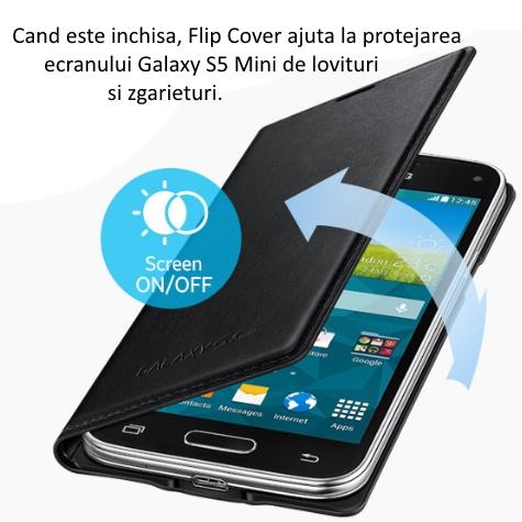 Husa de protectie Flip Wallet pentru Samsung Galaxy S5 Mini (G800) 4