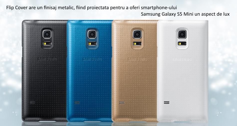 Husa protectie Flip Cover Punching Pattern pentru Samsung Galaxy S5 Mini (G800)