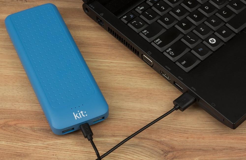 Incarcator portabil universal Kit Essential Blue 10000mAh, PWRE10BL