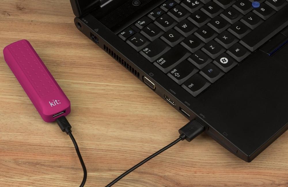 Incarcator portabil universal Kit Essential Pink 2000 mAh, PWRE2PI