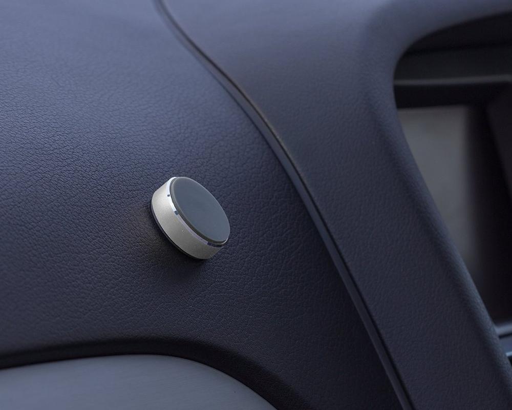 Suport auto telefon magnetic universal, prindere de bord, Kit HOLMAGSL, Argintiu 8
