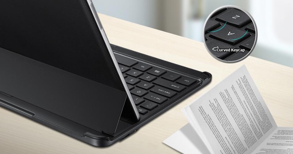 Husa Book cu tastatura bluetooth pentru Samsung Galaxy Note Pro Tab Pro 12.2 inch, EE-CP905UBEGWW Black 2