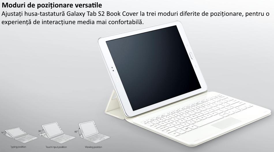 Husa Book Cover cu tastatura bluetooth pentru Samsung Galaxy Tab S2 9.7 inch, EJ-FT810UBEGWW Black 1