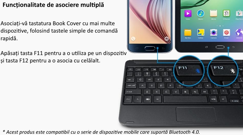 Husa Book Cover cu tastatura bluetooth pentru Samsung Galaxy Tab S2 9.7 inch, EJ-FT810UBEGWW Black 3