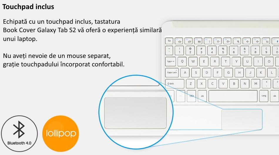 Husa Book Cover cu tastatura bluetooth pentru Samsung Galaxy Tab S2 9.7 inch, EJ-FT810UBEGWW Black 4
