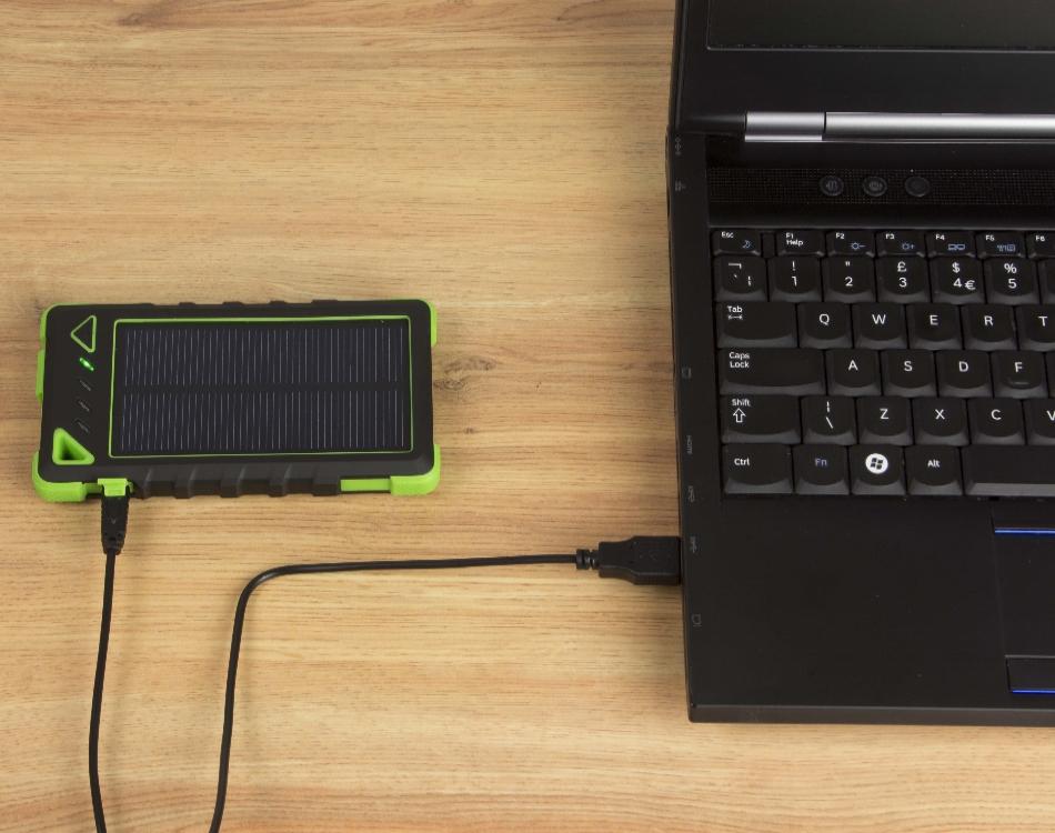 Incarcator portabil universal Kit Solar Black 8000mAh, PWRSOL8 3