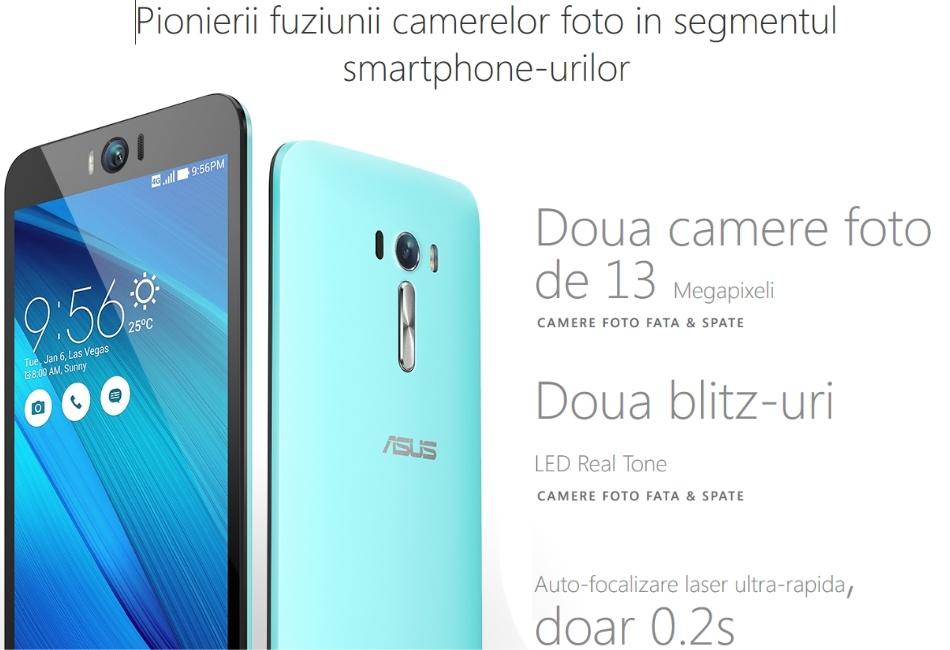 Telefon mobil Dual SIM ASUS ZenFone Selfie ZD551KL, 32GB + 3GB RAM, LTE, Black 1