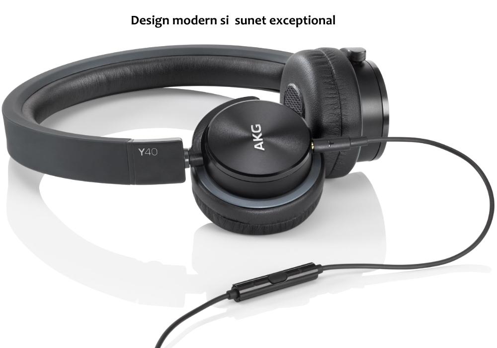 Casti audio cu microfon AKG Y 40, Black 1