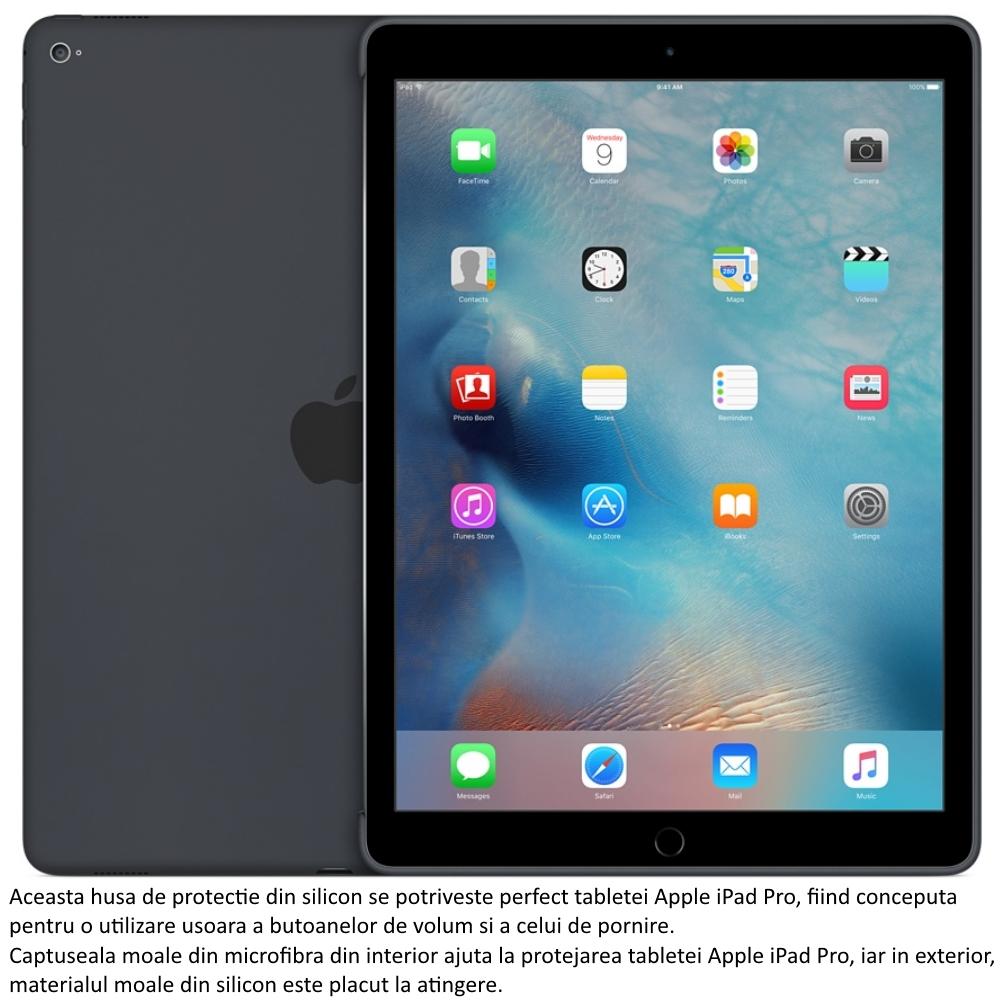 Husa Apple Silicone Case pentru iPad Pro, MK0D2ZM A Charcoal Gray