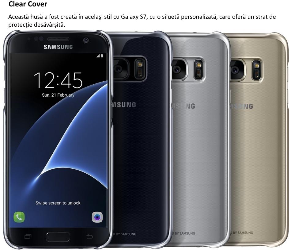 Husa Clear Cover pentru Samsung Galaxy S7 (G930)