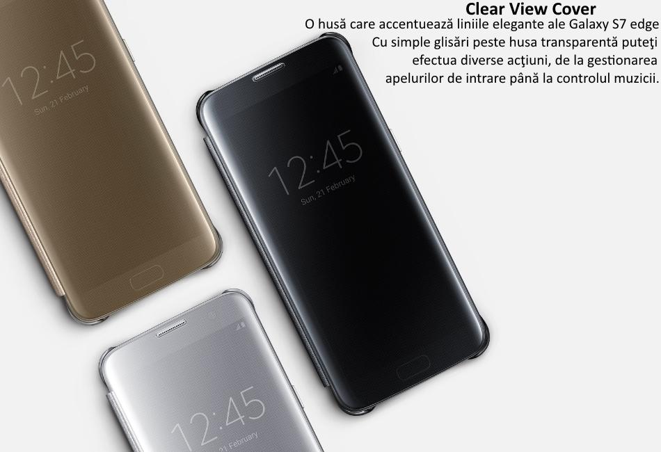 Husa Clear View Cover pentru Samsung Galaxy S7 Edge (G935)