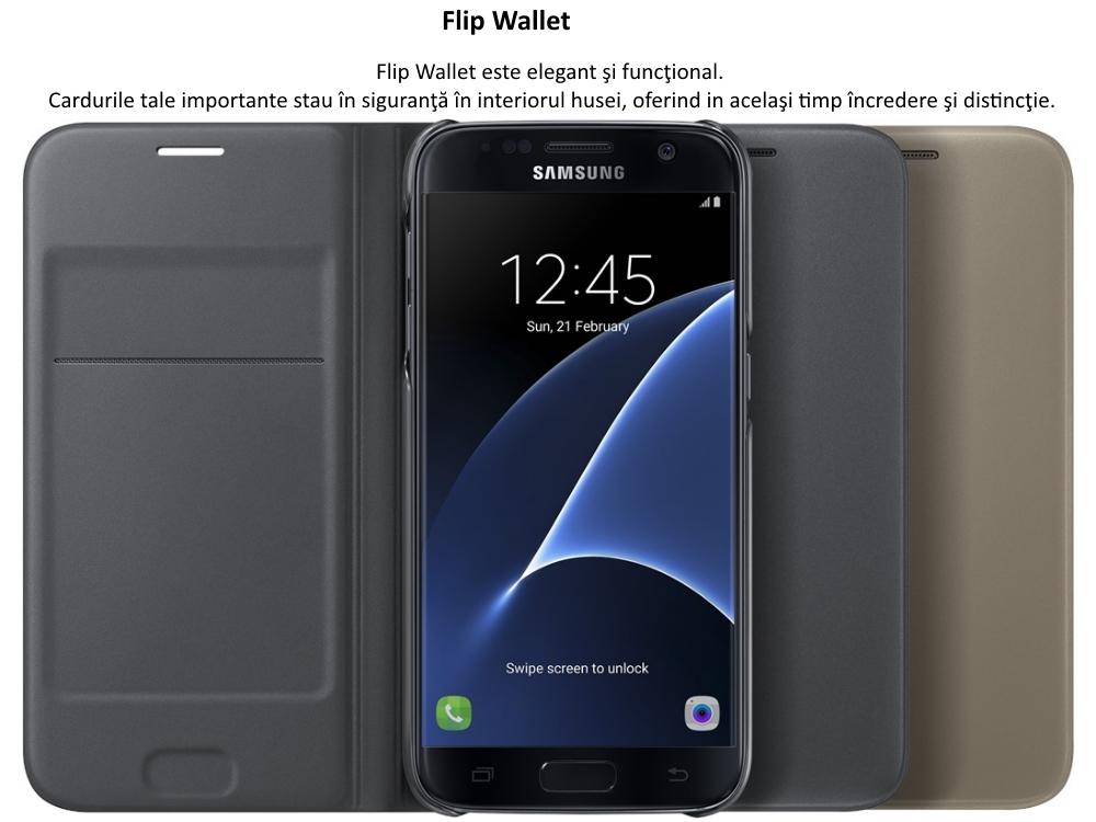 Husa Flip Wallet PU pentru Samsung Galaxy S7 (G930)