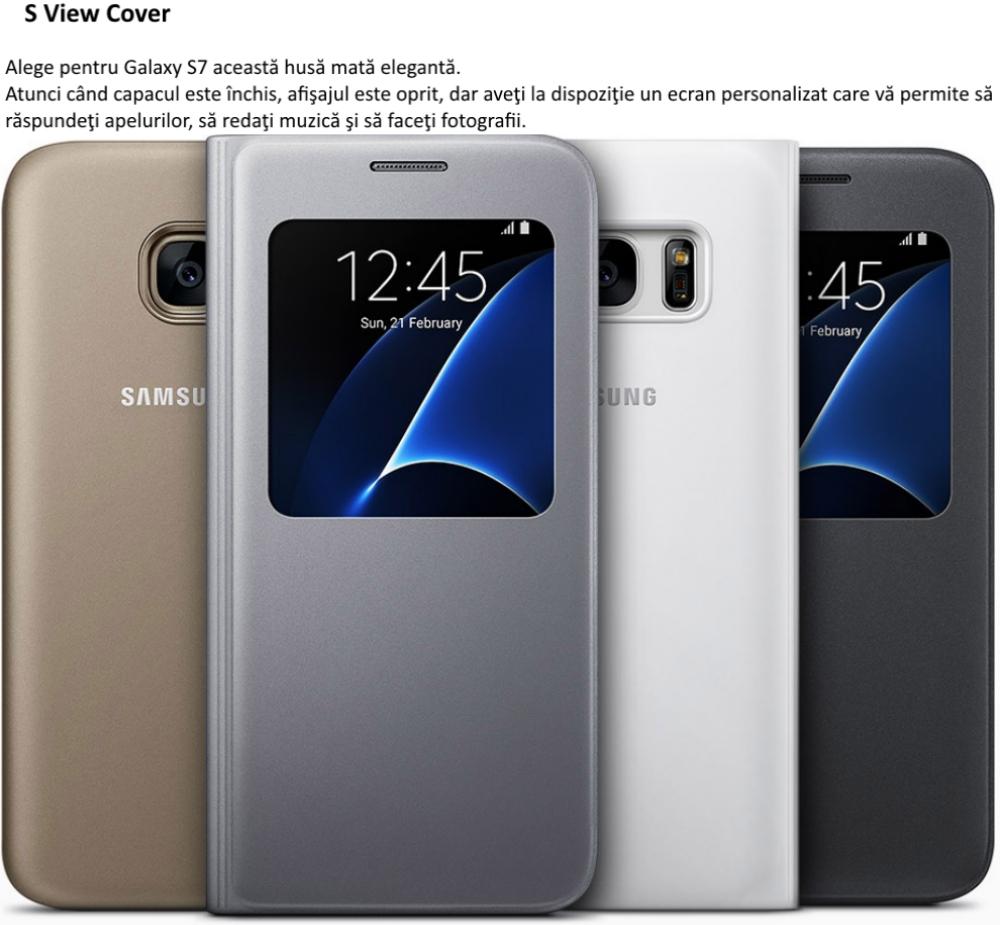Husa S View Black pentru Samsung Galaxy S7 (G930)