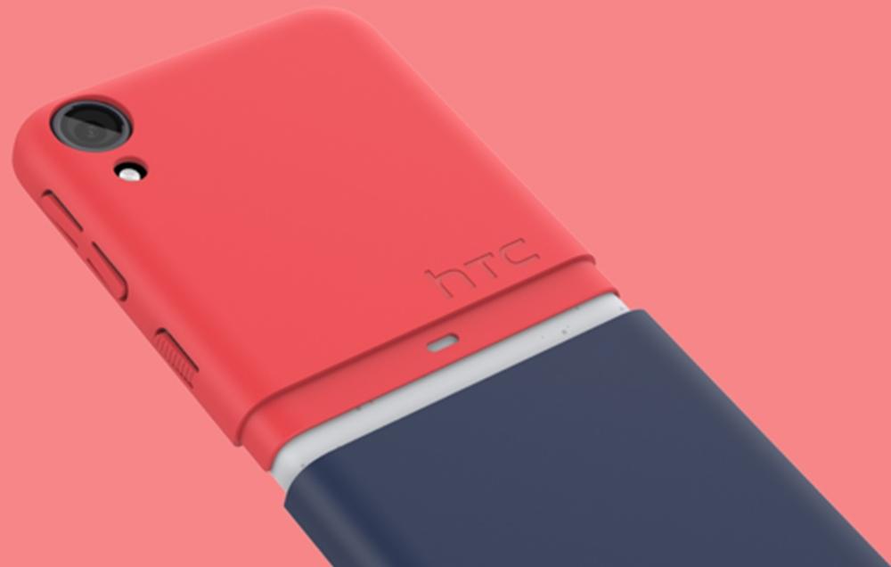 Capac protectie spate HTC Red Blue 2-Tone Snap pentru HTC Desire 530, HC C1250