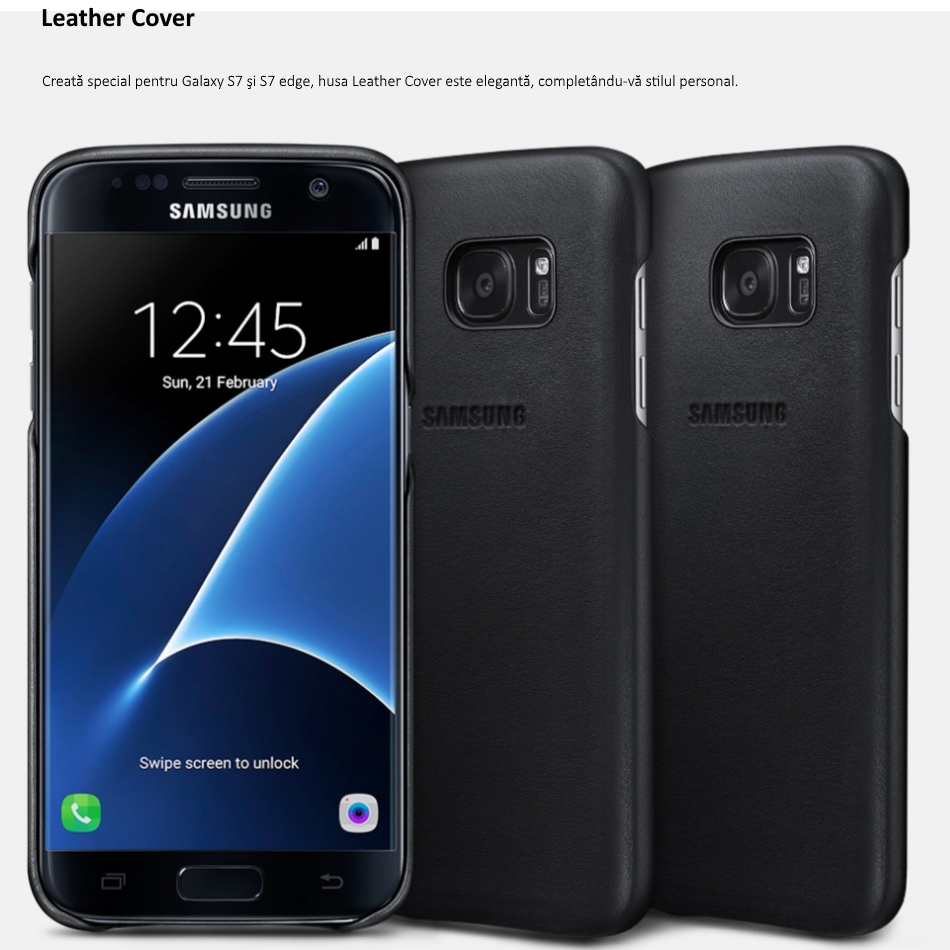 Galaxy S7,S7 Edge Leather Cover