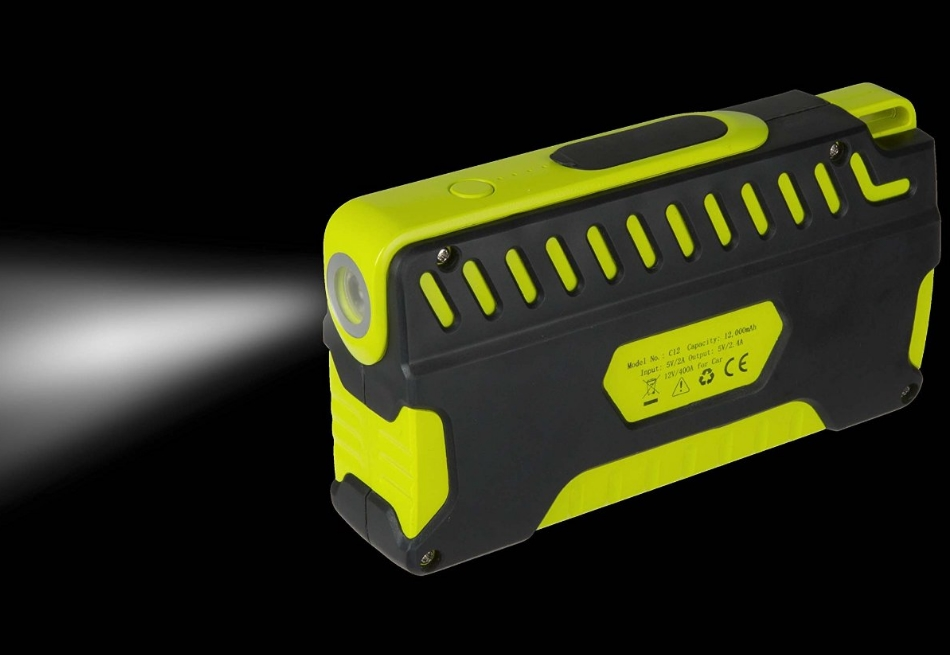 Incarcator portabil universal Kit Car Jump Starter 12000mAh, functie de pornire auto, PWRJUMP Black Green 1