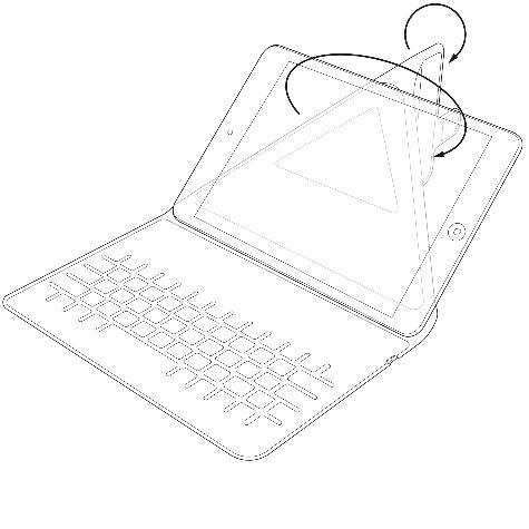 Tastatura Universala Bluetooth Kit pentru tablete 7 - 8, KBMAG7BK Negru 7